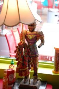 Kitschy Lamp at Lynn's Paradise Cafe