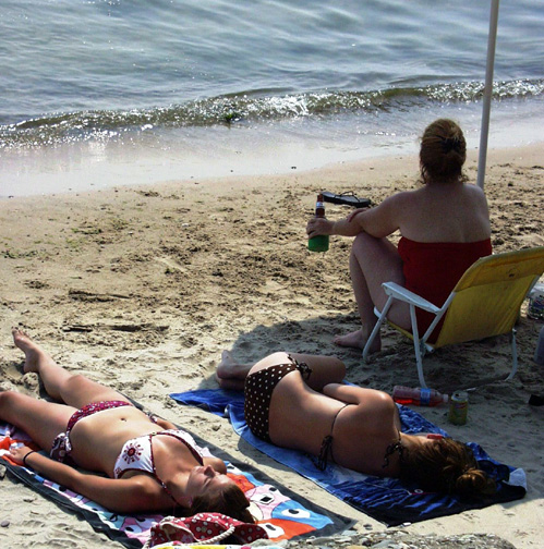 Sun Bathing - Port Dover, Ontario