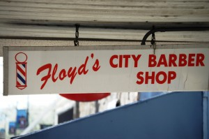 Floyd's Barber Shop - where Andy always got his haircuts