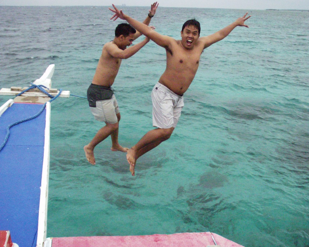 Diving In - off of Mactan Island