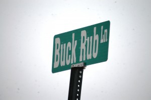 Buck Rub Lane