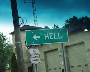 Direction to Hell from Pickney, MI