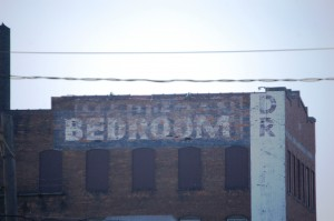 Old Building Advertisement - Davenport, IA