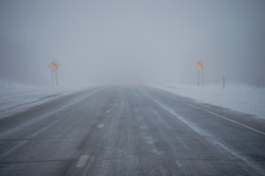 Snowy highways in Minnesota