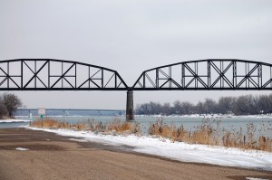 Grant Marsh Bridge over Missouri River in Bismarck