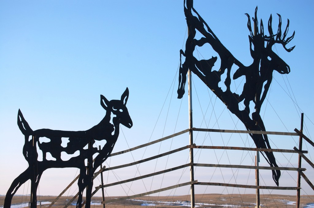 """Deer Crossing"" on Enchanted Highway"