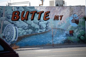Butte, Montana Welcoms sign