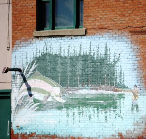 Mural on side of a building