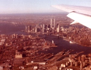 New York City from the air - 1986