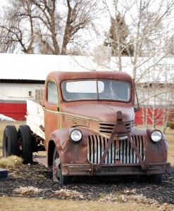 An old truck in Ashby, ID