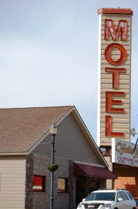 Big Motel sign in downtown Shelby
