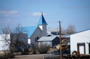 Another view of the Blue Roofed Church