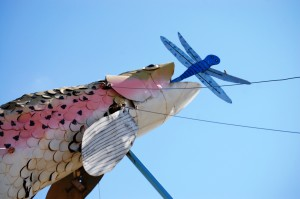 "60 foot tall trout - centerpiece of ""Fisherman's Dream"""