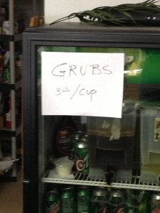 They sell grubs here too - didn't have any of those for breakfast