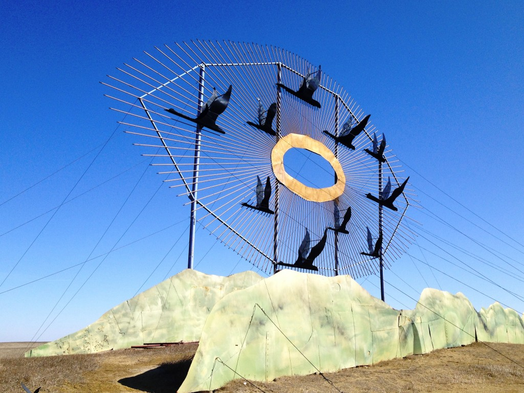 """Geese in Flight"" - Stop #1 on Enchanted Highway. Off of I-94, Exit 72"