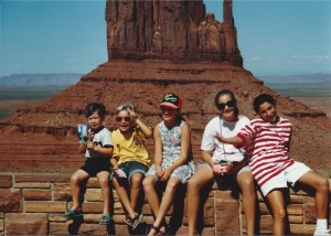Family in Monument Valley July 1993