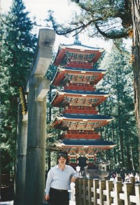 Sumoflam at Nikko Pagoda in Japan