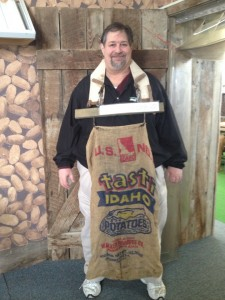 Sumoflam with a Potato Picking Bag