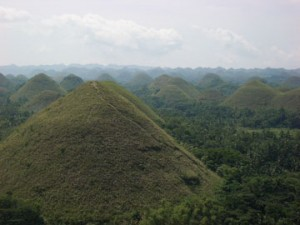 The Chocolate Hills in Bohol