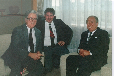 David with Gov. Hiramatsu and then British Foreign Minister Sir Geoffrey Howe