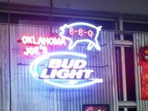 Oklahoma Joe's Neon