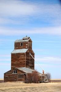 Old Wooden Grain Elevator