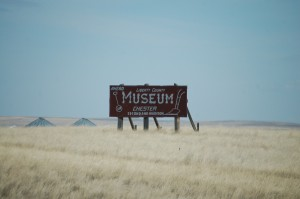 Museum Sign near Chester, MT