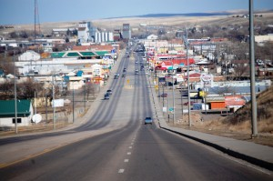"The ""Main Drag"" in Havre. US Hwy 2 runs right through the middle of town."