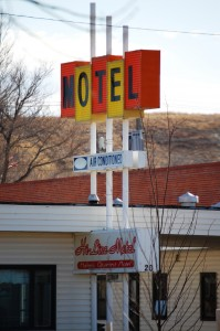 1960s Motel Sign in Havre, Montana. There are still a few of these in town.