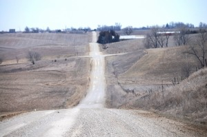 Back road to What Cheer, IA.... a six mile long dirt road