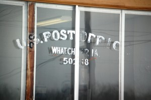 What Cheer Post Office - even this sign is becoming illegible and run down