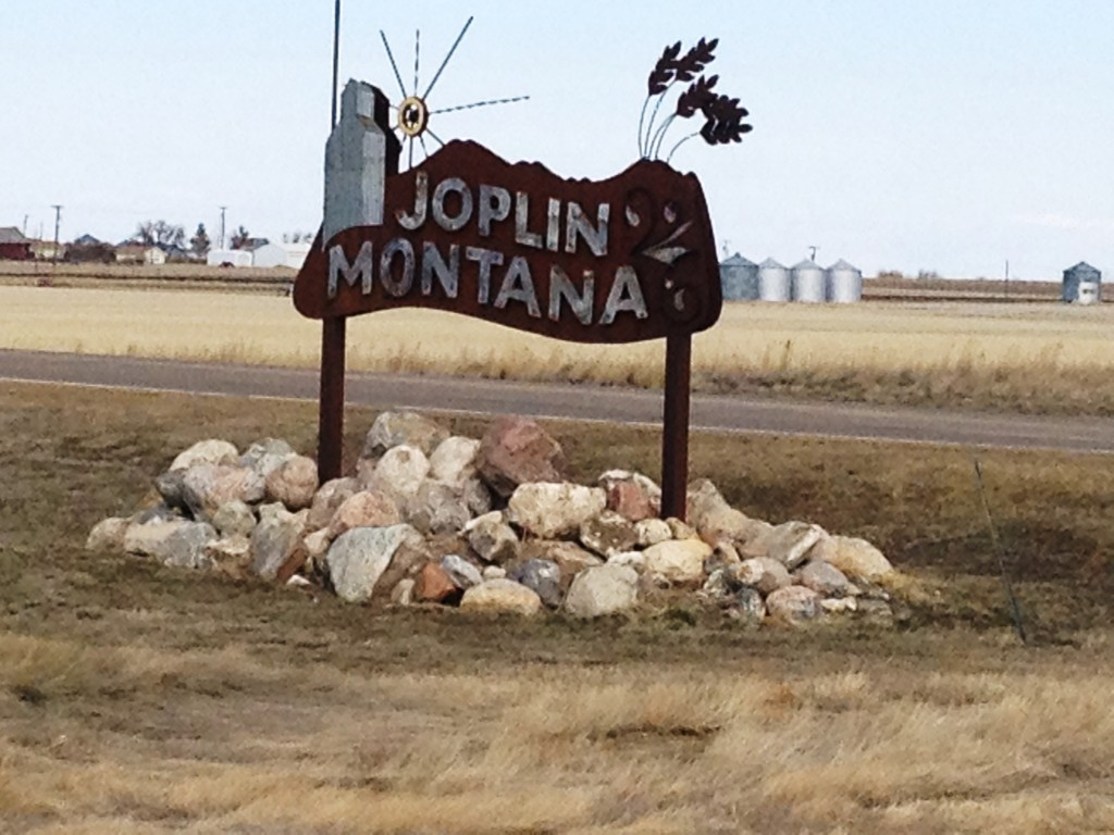 Joplin, Montana sign