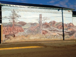 Mural at the Glendive Museum