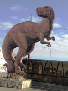 Giant Dinosaur Sign in Glendive, Montana