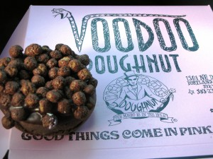 Triple Chocolate Penetration - Chocolate cake doughnut with chocolate frosting and coco-puffs! I was Coo Coo for this one...