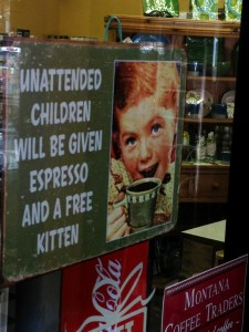 Unusual sign seen in a shop in Shelby