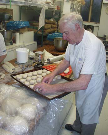 Ross is up early making the rolls