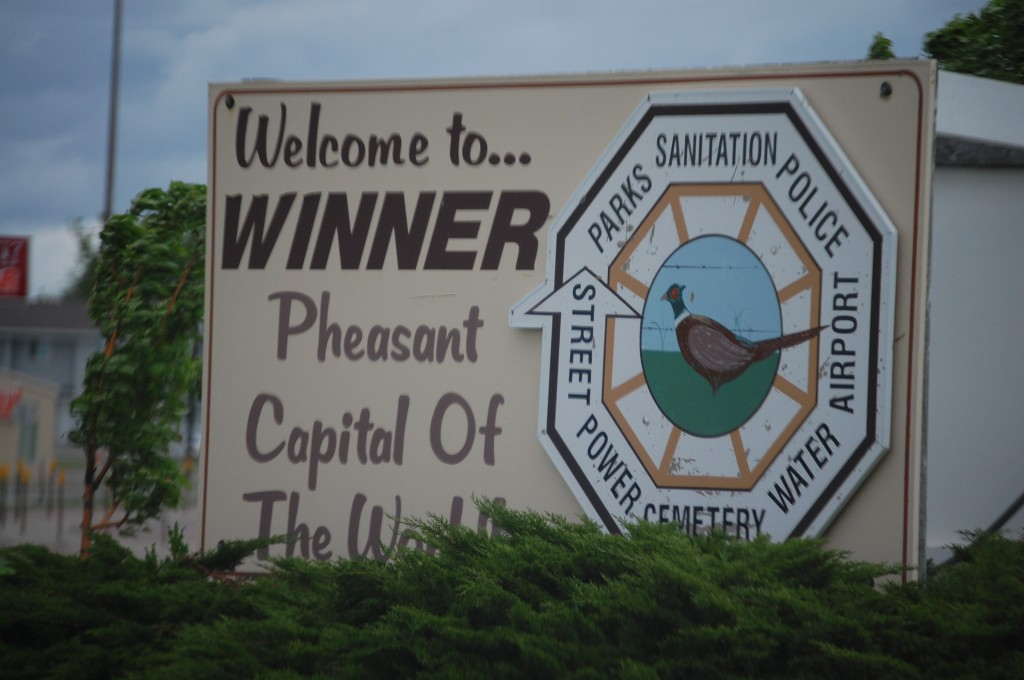 Welcome to Winner, SD - Pheasant Capital of the World