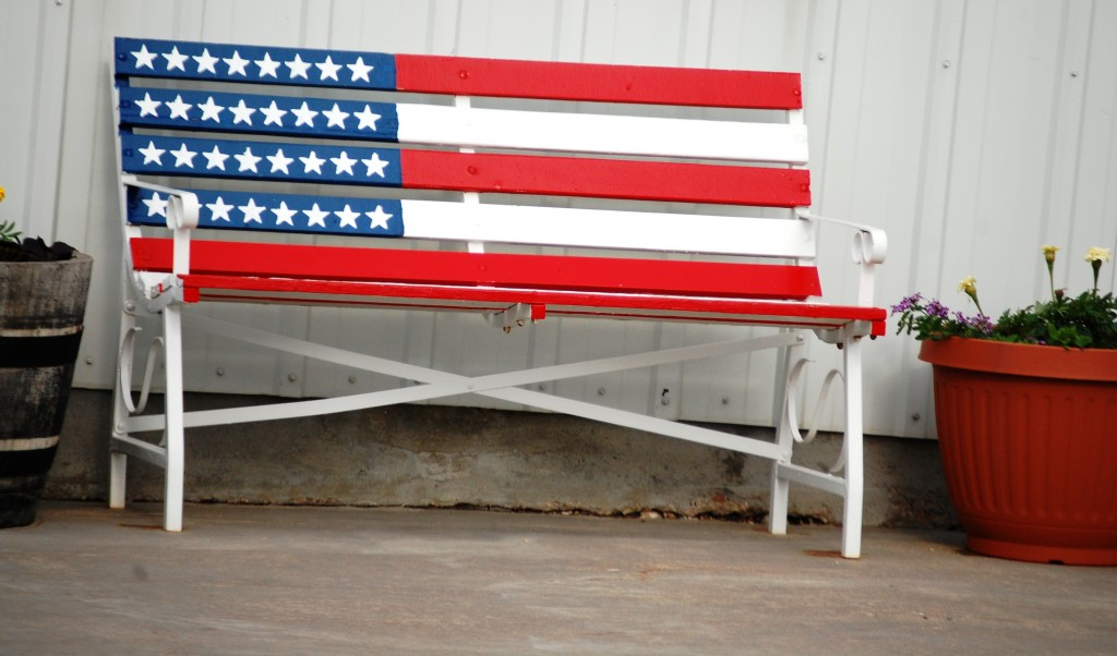 Flag Benches in Kadoka, SD