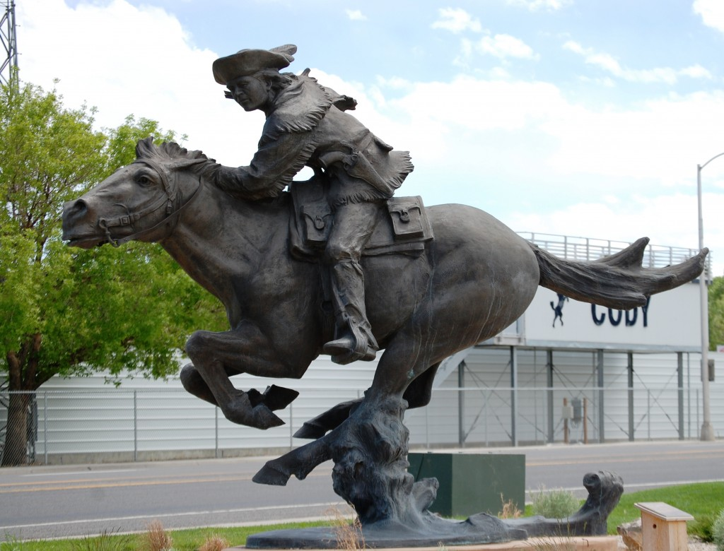 """Hard and Fast All the Way"" - Buffalo Bill sculpture by Peter M. Fillerup"
