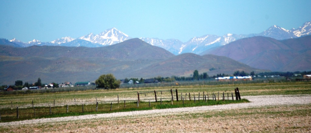 Mountains as seen from Carey, ID
