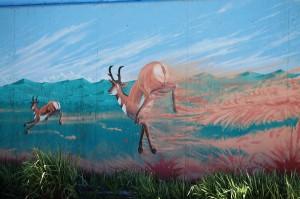 Antelope Mural, Bellevue, ID