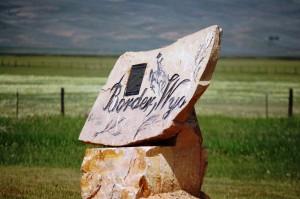 Border, Wyoming sign