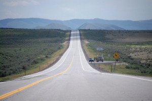 US 30 heading south to Cokeville, Wyoming