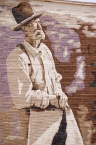 Detail of Harvey Jackson mural