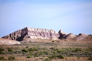 Colorful buttes along Hwy 789 in south central Wyoming