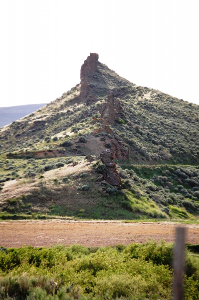 Fortification Rocks as seen from the side on CO Hwy 13