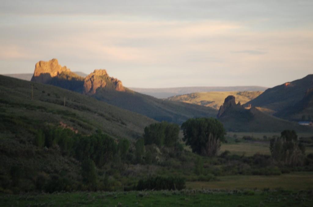 Sunset hits Devil's Grave Mesa south of Phoppsburg, CO