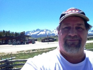 Hello from Stanley - with the Sawtooths in the background