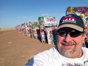 Sumoflam at Cadillac Ranch